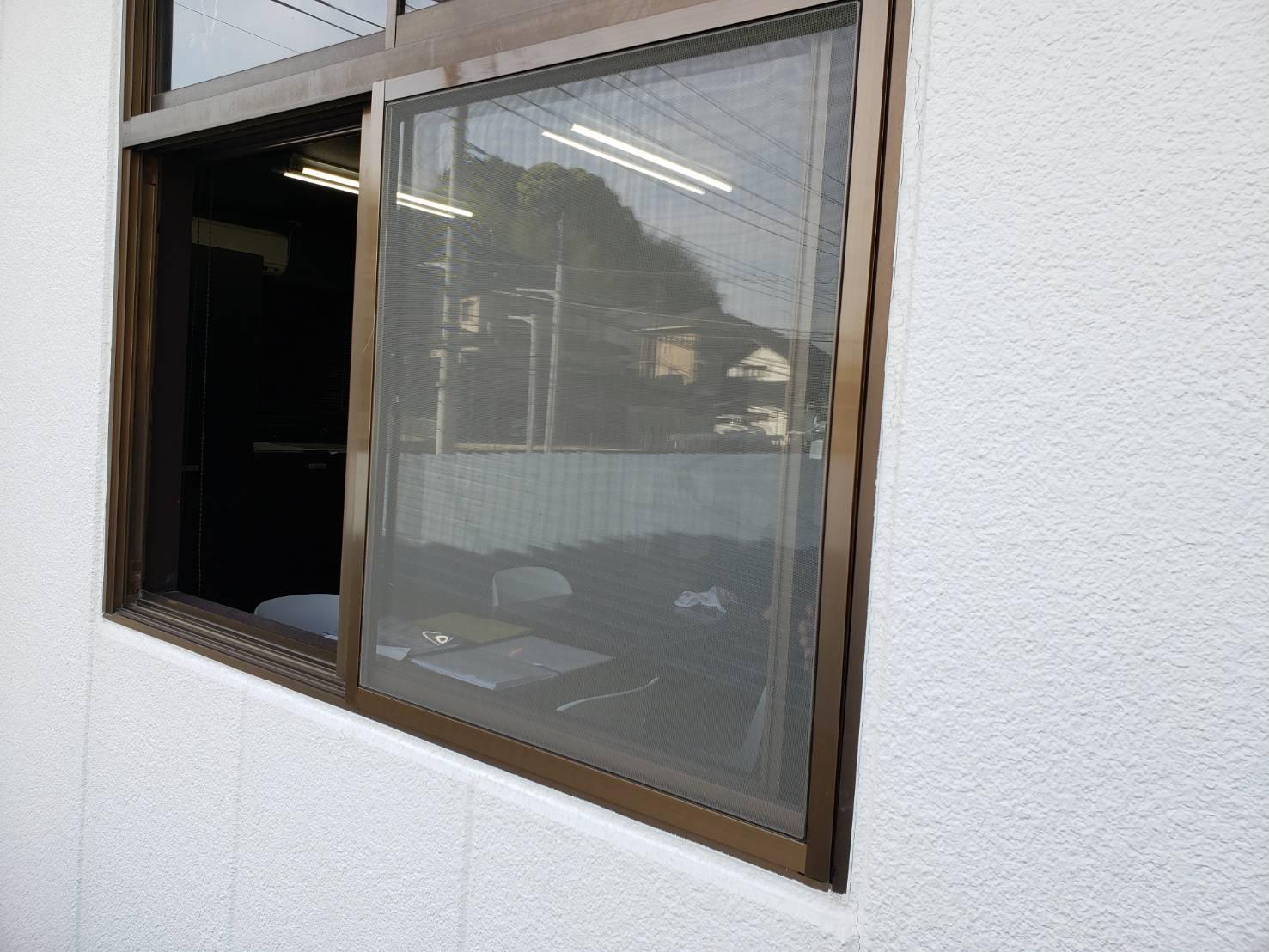 ギャラリーパティオの網戸 新設の施工後の写真1