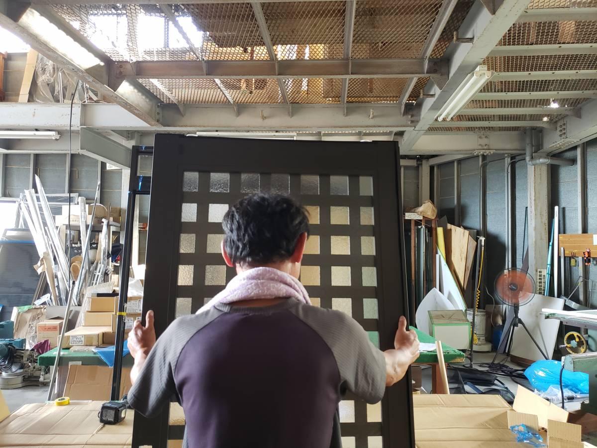 作業場 組立 リシェント 引き戸 ギャラリーパティオの現場ブログ メイン写真