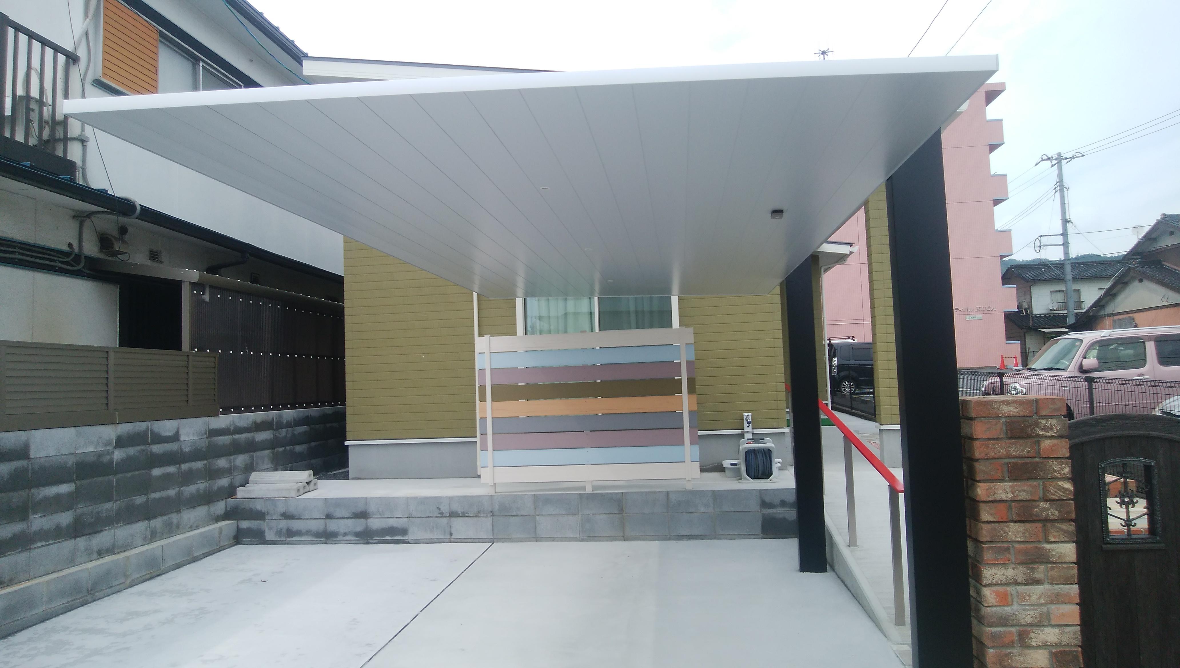 ギャラリーパティオの外構工事 その2 カーポートの施工事例写真