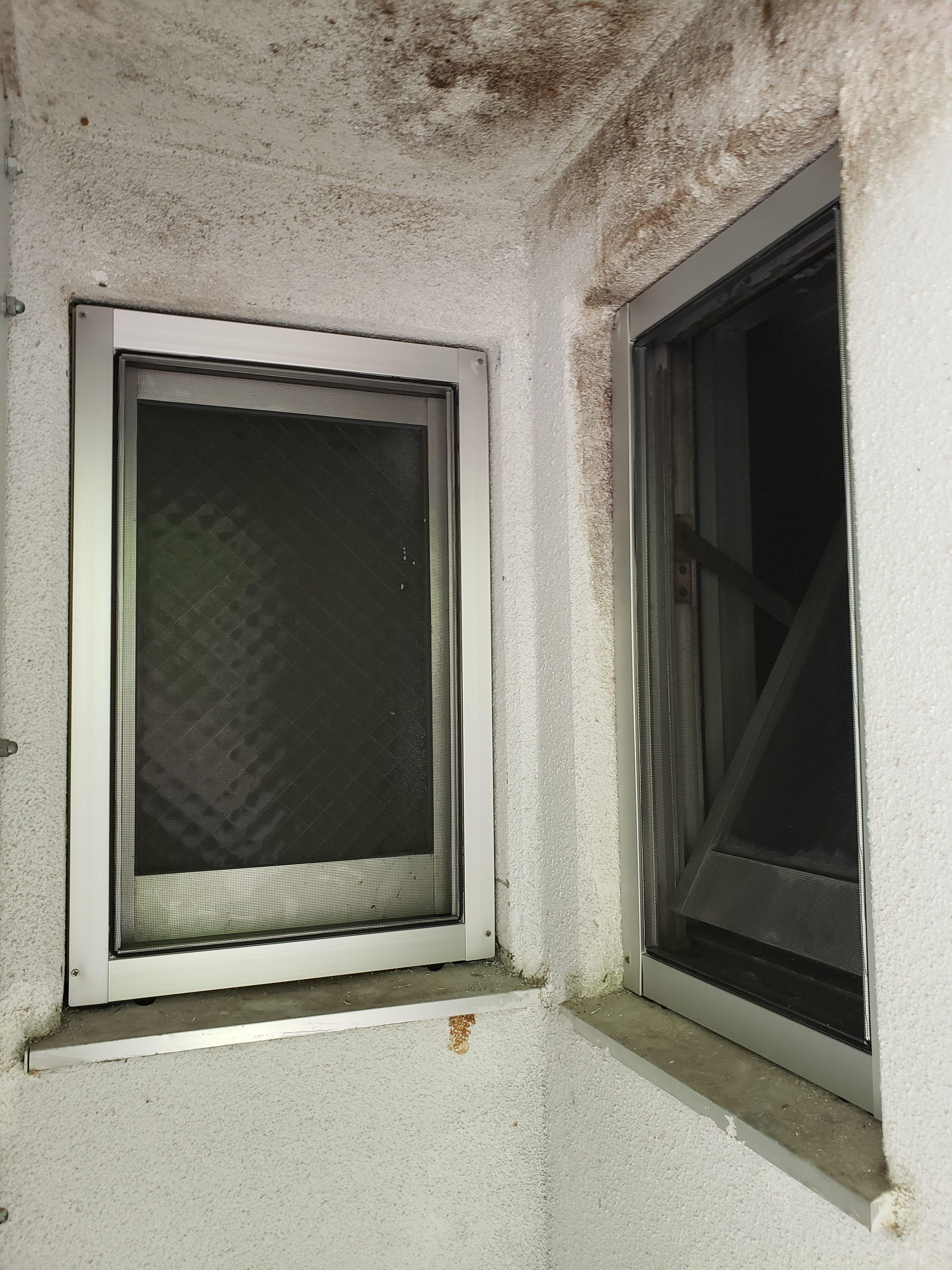 ギャラリーパティオの網戸新設 公営住宅の施工事例写真