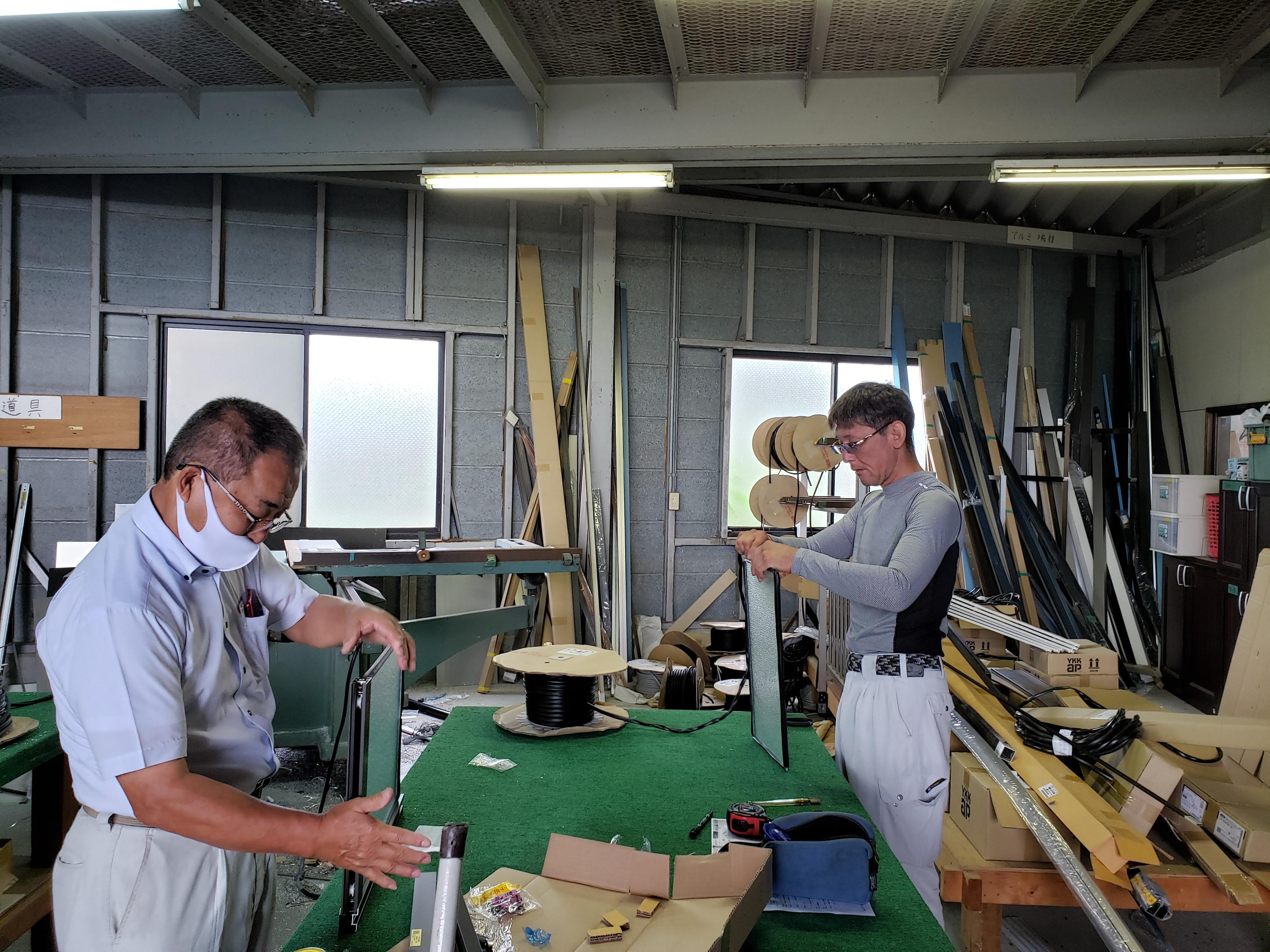 朝の作業場 ギャラリーパティオの現場ブログ メイン写真