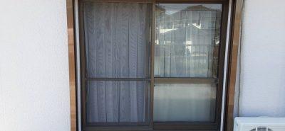 施工事例:シャッター雨戸取付工事 台風対策