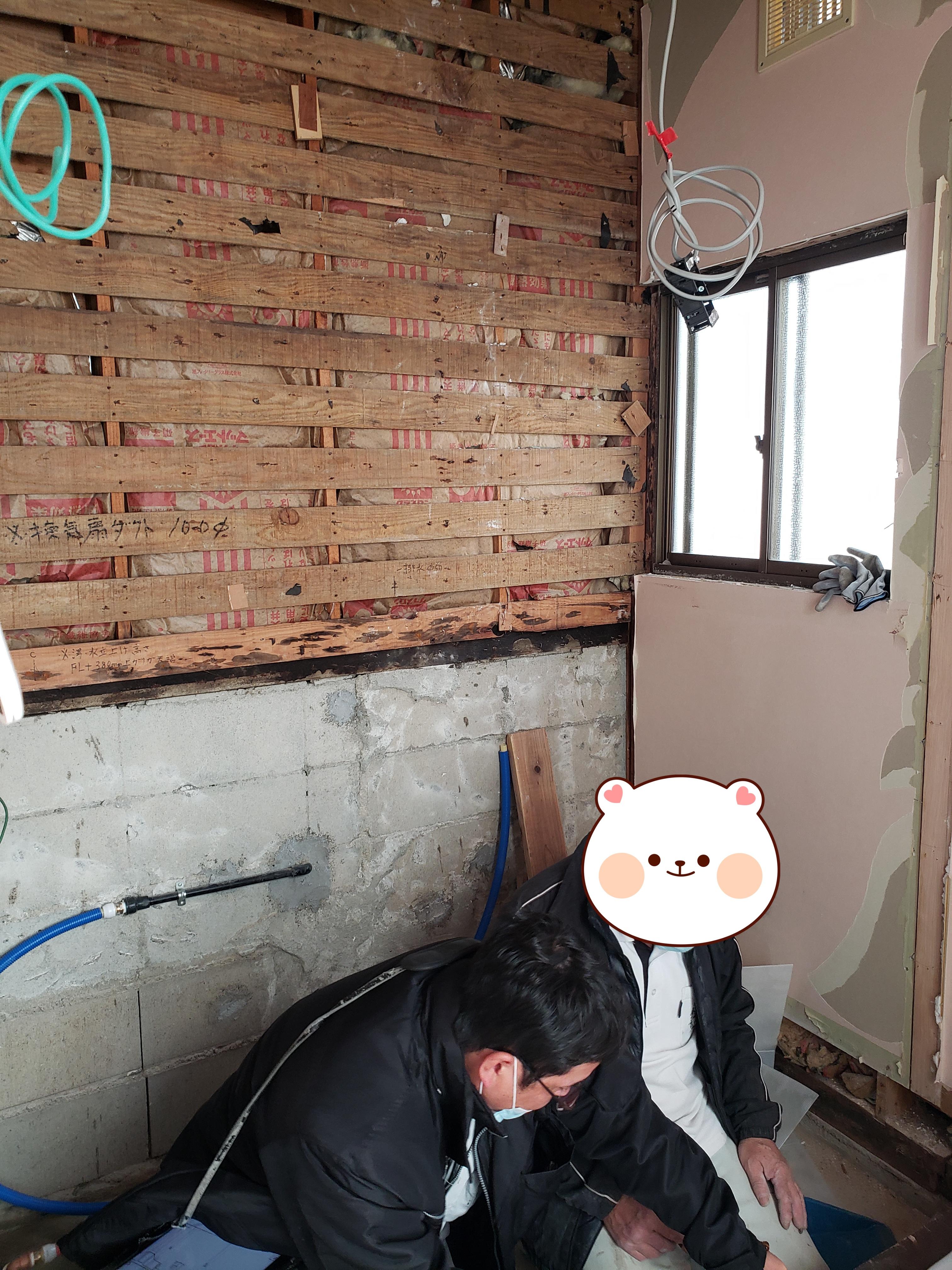 現調 バスルーム ギャラリーパティオの現場ブログ メイン写真