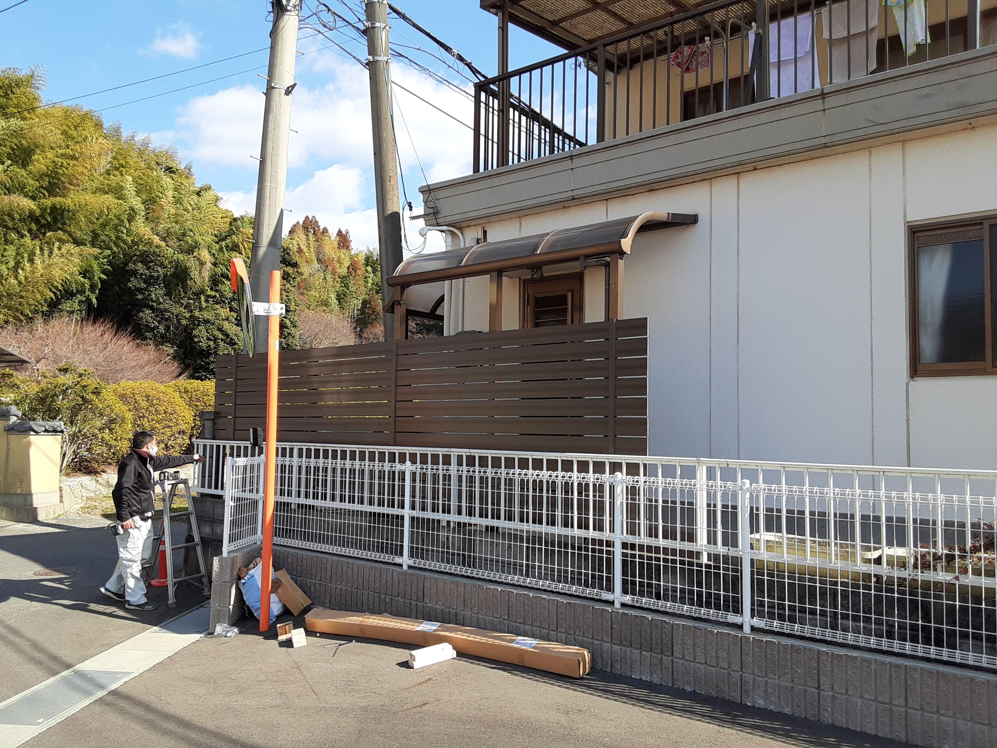 ギャラリーパティオの目隠しフェンス工事の施工後の写真2