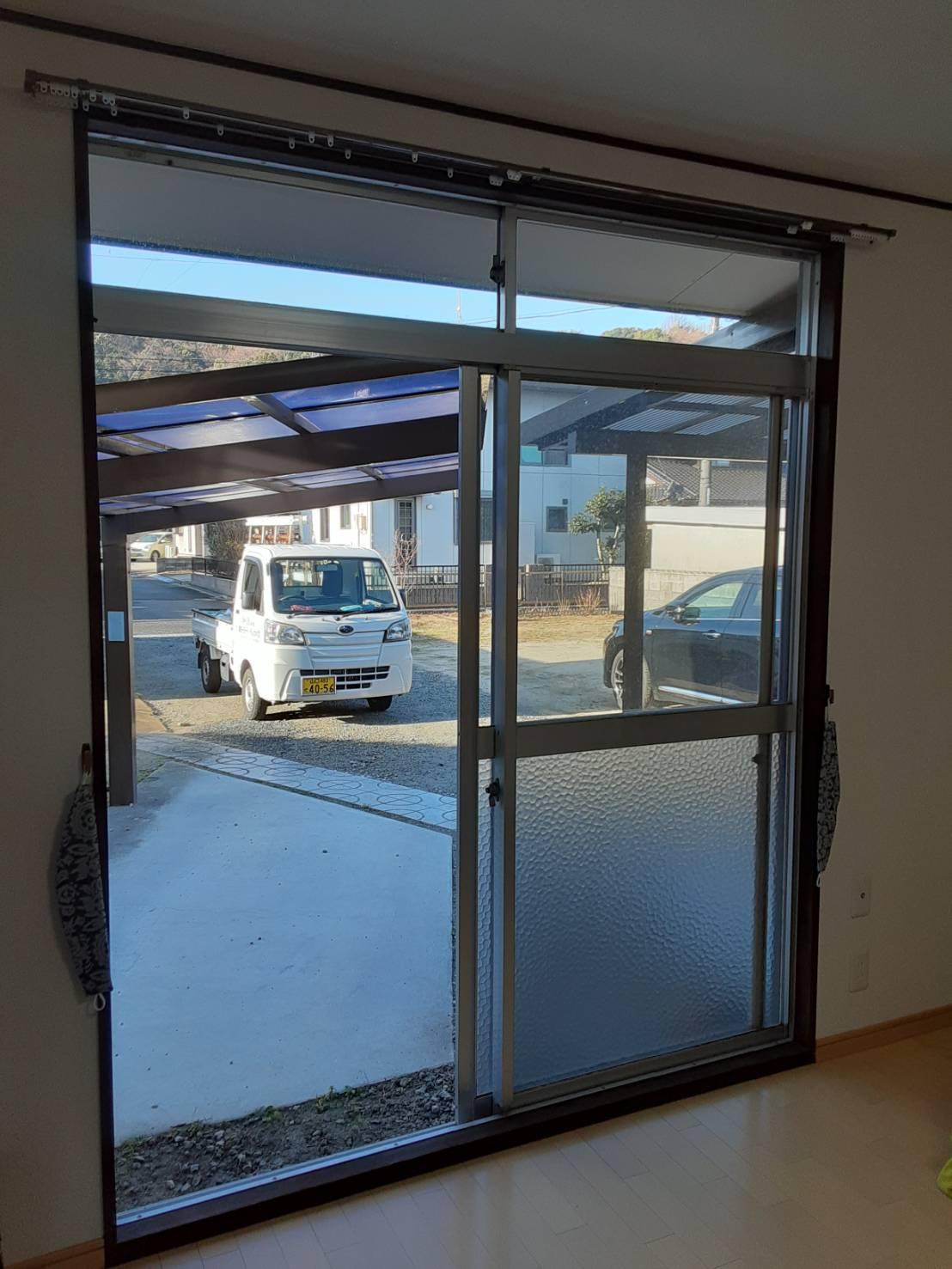 ギャラリーパティオの内窓設置工事の施工前の写真2