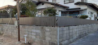 施工事例:フェンス工事 及び ブロック塀補修工事