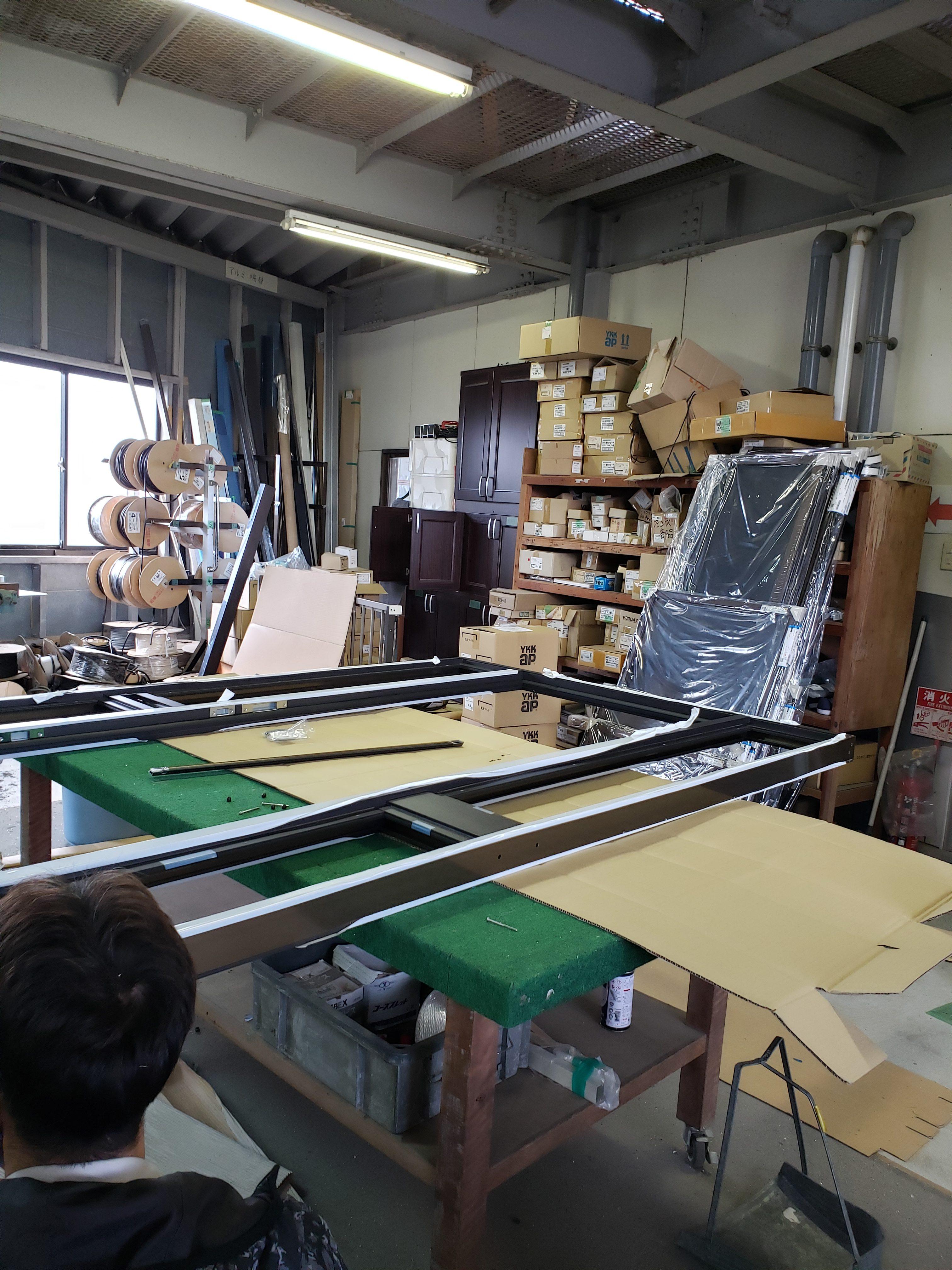 作業場 リシェント 組立 ギャラリーパティオの現場ブログ メイン写真