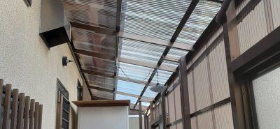 施工事例:テラス囲い 波板交換
