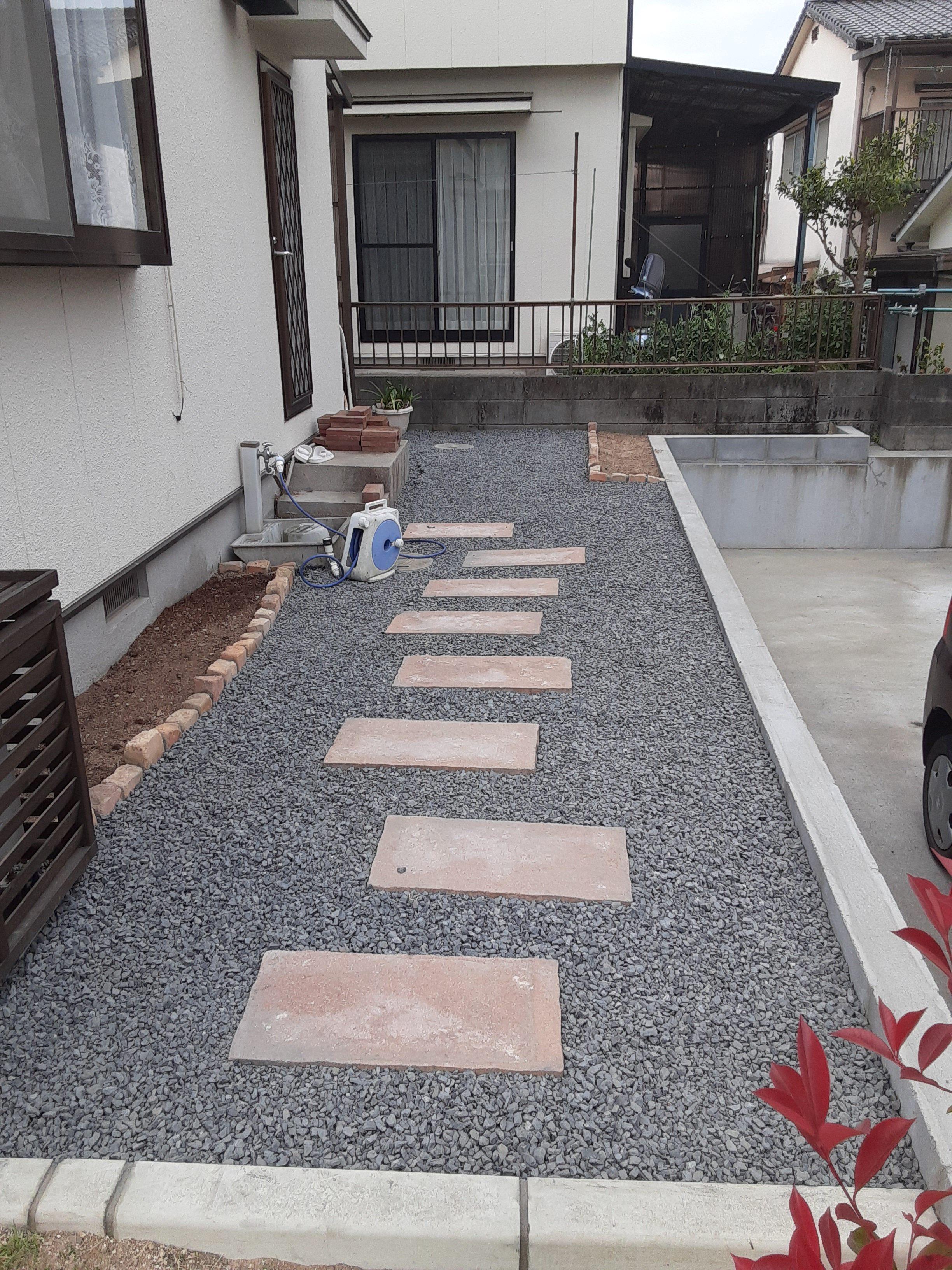 お庭のリフォーム ギャラリーパティオの現場ブログ メイン写真
