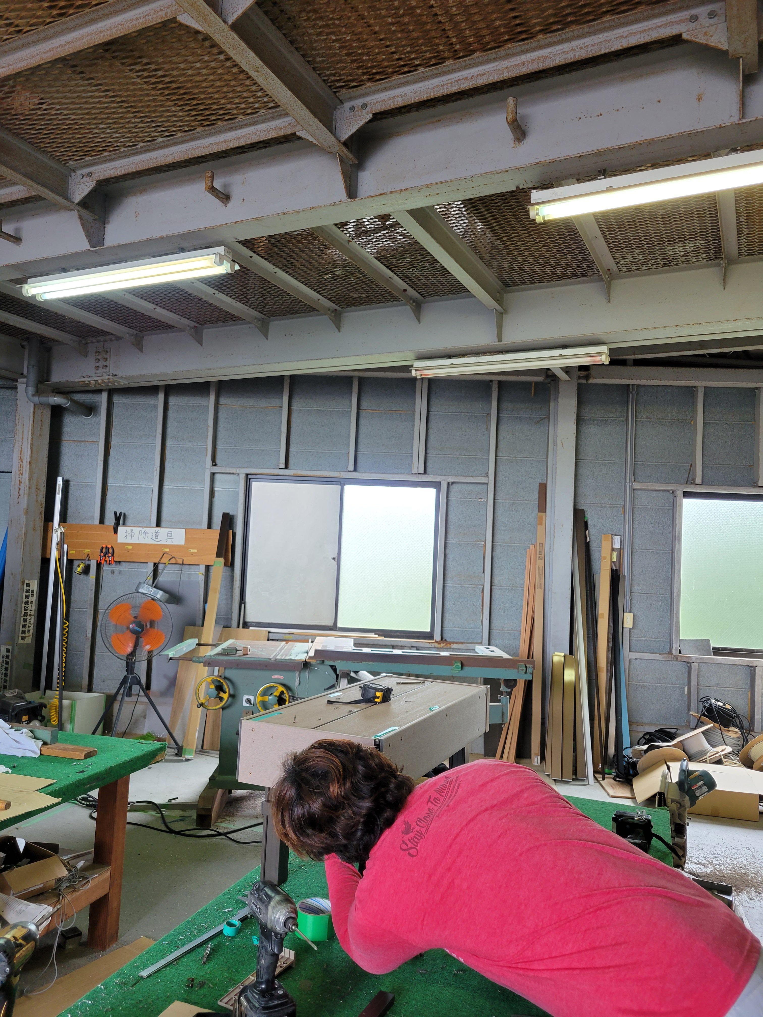 今朝の作業場  ギャラリーパティオの現場ブログ メイン写真